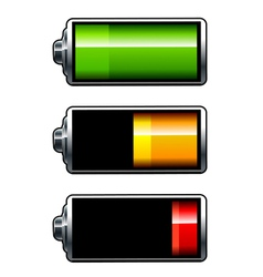 Batteries icons vector