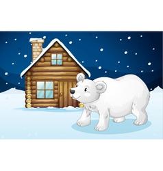 House and polar bear vector