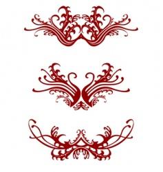 Regal decorations vector