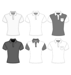 Mens short sleeve polo shirt vector