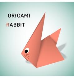 Rabbit origami vector