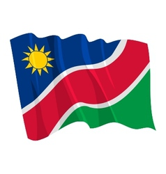 Political waving flag of namibia vector