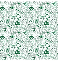 Ecology - seamless pattern vector