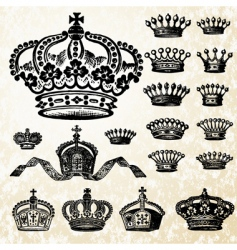 Victorian crown set vector