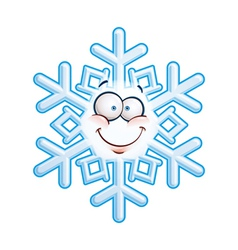Snowflake head smiley vector