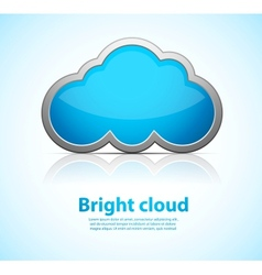 Blue cloud vector