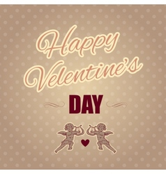 Typographical banner happy valentines day vector