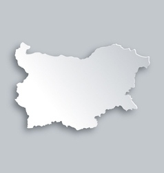 Map of bulgaria vector