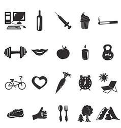 Black icons health vector