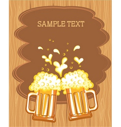 Beer fest background vector