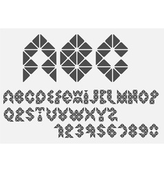 Original mosaic alphabet vector