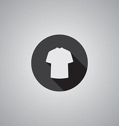 T-shirt symbol flat vector