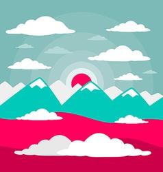 Mountains flat design vector
