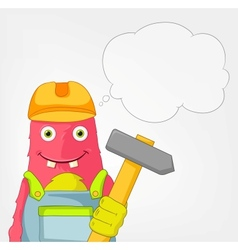 Funny monster contractor vector