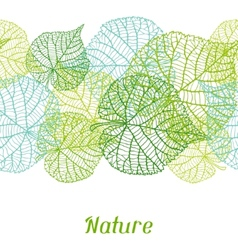 Seamless nature pattern with green leaves vector