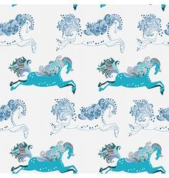 Seamless beautiful jumping horse vector