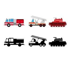 Fireman transportation vector