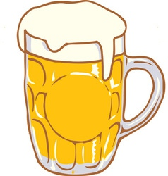 Beer mug pint clipart design d vector