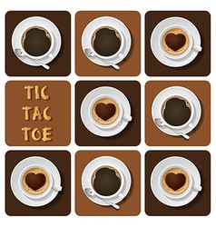 Tic-tac-toe of cappuccino and espresso vector
