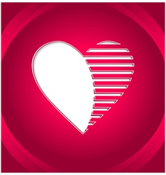 Creative heart button vector