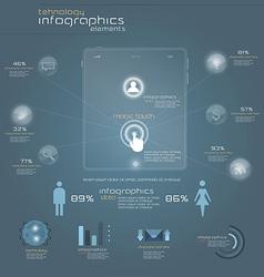Gray infograph 2 vector
