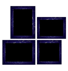 Set of photo frames isolated on white background vector