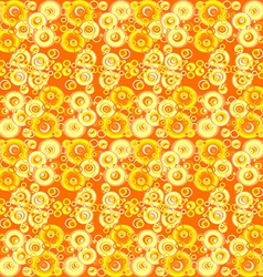 Yellow abstract background with circles vector