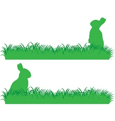 Simple bunny banner vector
