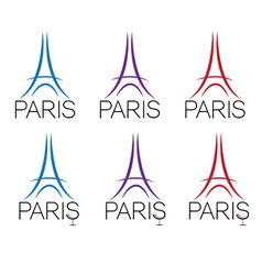 Set of eiffel tower vector