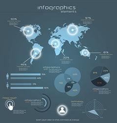 Gray infograph vector