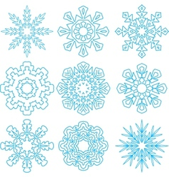 Beautiful snowflakes set vector