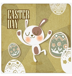Rabbit in easter day vector