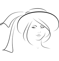 The woman in a hat vector