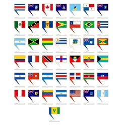 Badges with flags of america vector