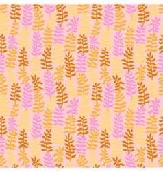 Seamless floral pattern in warm colors vector