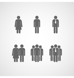 Icons with people signs vector