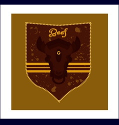 Crest bulls head vector