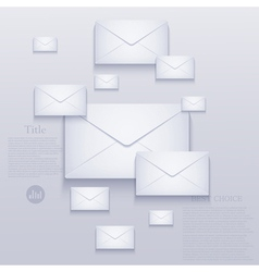 Mail background vector