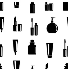 Seamless pattern of toiletries icons vector