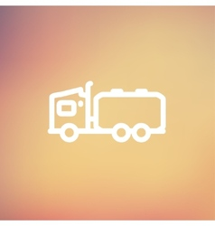 Tanker truck thin line icon vector