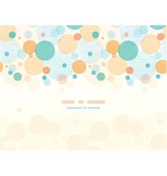 Fabric circles abstract horizontal seamless vector