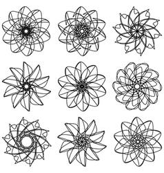 Flowers set vector