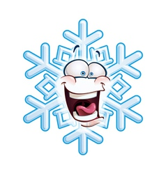 Snowflake head lol vector