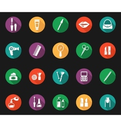 Colorful hygiene and grooming graphic symbols vector