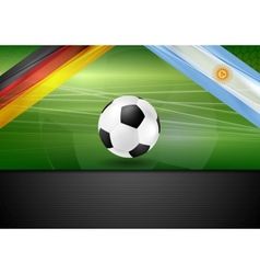 Soccer background germany and argentina football vector