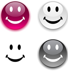 Smiley button vector