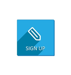 Sign up button flat vector