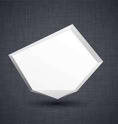 Announcement white paper origami balloon vector