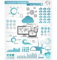 Cloud service infographic elements vector