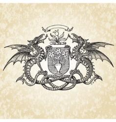 Dragons illustration vector